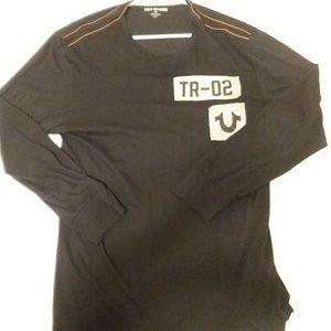 True Religion longsleeve thick t shirt men's XL